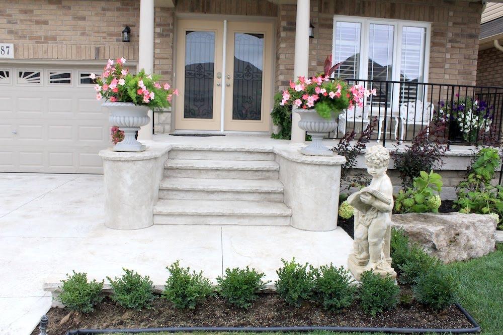 stamped pillar steps